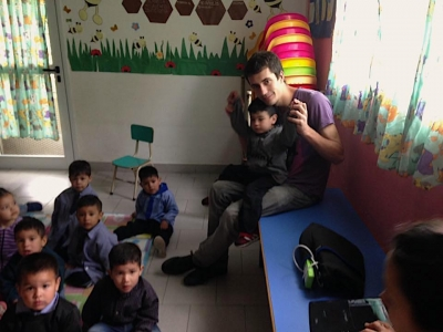 Aurelien at the kindergarten
