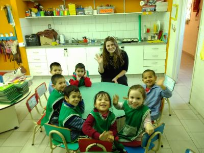 Volunteering at the Early childhood development center