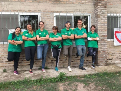 Volunteers at english camp