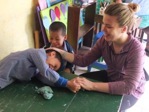 Marie's First Day Volunteering at Voluntario Global's Kindergarten Project