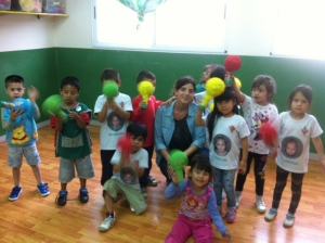 Volunteer in the kindergarten