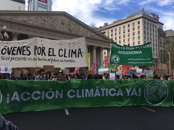 Planet Earth is in Emergency and the Youth of Argentina Marches for its Future