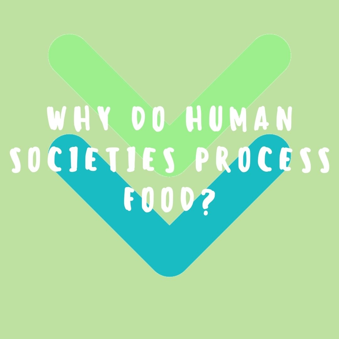 WHY DO HUMAN SOCIETIES PROCESS FOOD?
