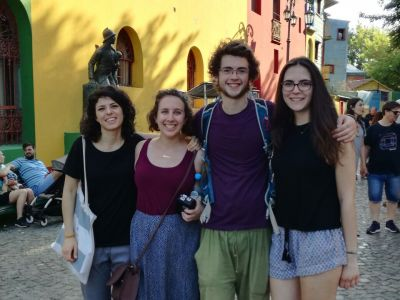 Hannah (first on the right) and friends in Caminito