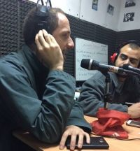Riccardo working at the Radio Station in Buenos Aires